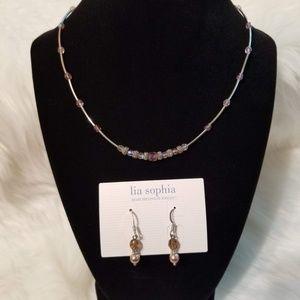 NEW Lia Sophia Necklace & Earring Set
